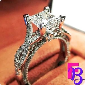 2 CT Princess Cut Engagement Ring